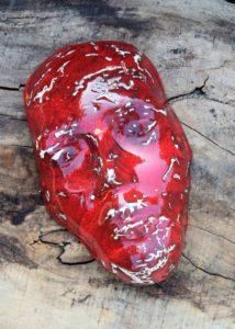 maska czerwona