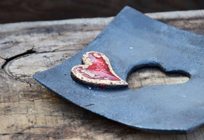 talerzyk z sercem