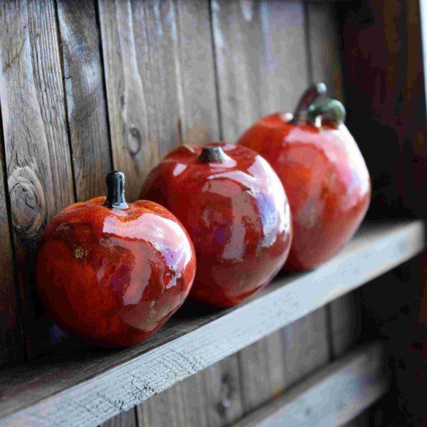 Ceramiczne jabłka